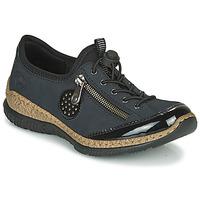 Pantofi Femei Pantofi Derby Rieker N3268-01 Albastru / Negru
