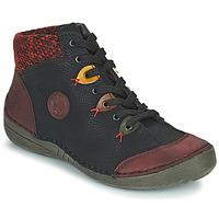 Pantofi Femei Ghete Rieker 52513-36 Negru / Bordo
