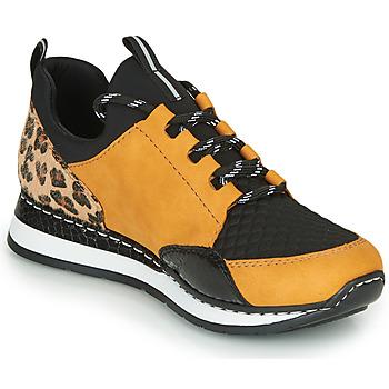 Pantofi Femei Pantofi sport Casual Rieker TENUA Coniac / Negru