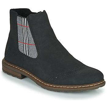 Pantofi Femei Ghete Rieker 71072-02 Negru / Multicolor