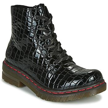 Pantofi Femei Ghete Rieker 76246-00 Negru
