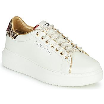 Pantofi Femei Pantofi sport Casual Serafini J.CONNORS Alb / Piton