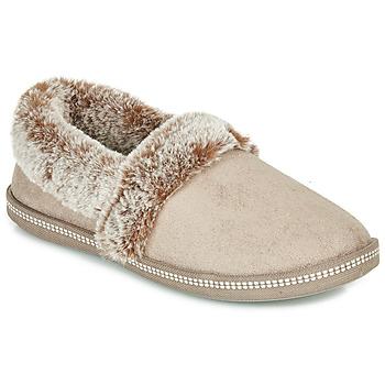 Pantofi Femei Papuci de casă Skechers COZY CAMPFIRE Bej