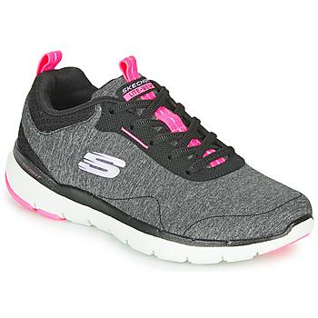 Pantofi Femei Fitness și Training Skechers FLEX APPEAL 3.0 Gri / Negru / Roz