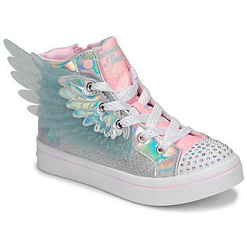Pantofi Fete Pantofi sport stil gheata Skechers TWI-LITES 2.0 Argintiu / Roz / Led
