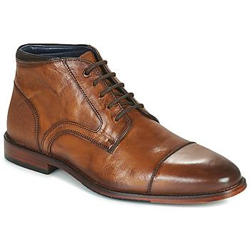 Pantofi Bărbați Ghete Azzaro TELLIS Coniac