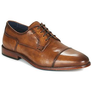 Pantofi Bărbați Pantofi Derby Azzaro TILLEUL Coniac