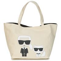 Genti Femei Sacoșe shopping și Genti shopping Karl Lagerfeld K/IKONIK KARL & CHOUPETTE TOTE Negru