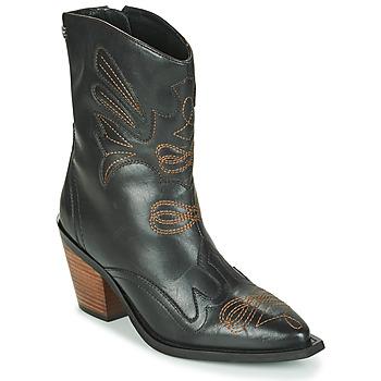 Pantofi Femei Botine Gioseppo SERAING Negru / Maro