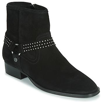 Pantofi Femei Ghete Ikks BOOTS GAUCHO Negru