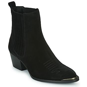 Pantofi Femei Botine Ikks TIAG SUEDE Negru