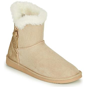 Pantofi Femei Ghete Only BREEZE 1 ZIP BOOT Bej