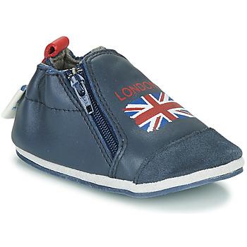 Pantofi Copii Papuci de casă Robeez LONDON FLAG Bleumarin