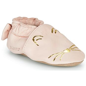 Pantofi Fete Papuci de casă Robeez GOLDY CAT Roz / Auriu