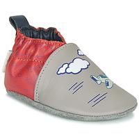 Pantofi Băieți Papuci de casă Robeez HAPPY WOLF Gri / Roșu