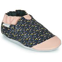 Pantofi Fete Papuci de casă Robeez RAINY LOVE Negru / Roz