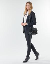 Îmbracaminte Femei Pantalon 5 buzunare Karl Lagerfeld PUNTO PANTS W/ LOGO TAPE Albastru / Negru