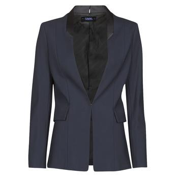Îmbracaminte Femei Sacouri și Blazere Karl Lagerfeld PUNTO JACKET W/ SATIN LAPEL Albastru / Negru