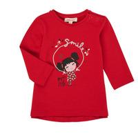Îmbracaminte Fete Tricouri cu mânecă lungă  Catimini CR10043-38 Roșu