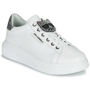 Pantofi Femei Pantofi sport Casual Karl Lagerfeld KAPRI IKONIC TWIN LO LACE White /  lthr / Silver