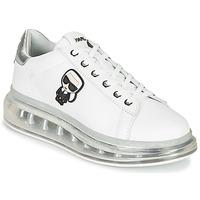 Pantofi Femei Pantofi sport Casual Karl Lagerfeld KAPRI KUSHION KARL IKONIC LO LACE Alb / Argintiu