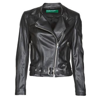 Îmbracaminte Femei Jachete din piele și material sintetic Benetton 2ALB53673 Negru