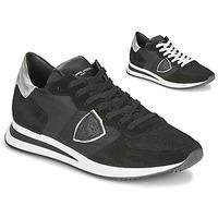 Pantofi Femei Pantofi sport Casual Philippe Model TROPEZ X BASIC Negru / Argintiu