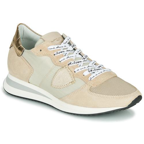 Pantofi Femei Pantofi sport Casual Philippe Model TROPEZ X MONDIAL CROCO Bej