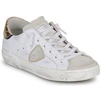 Pantofi Femei Pantofi sport Casual Philippe Model PARIS X VEAU CROCO Alb / Auriu