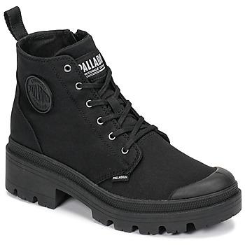 Pantofi Femei Ghete Palladium PALLABASE TWILL Negru