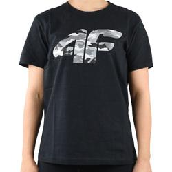 Îmbracaminte Băieți Tricouri mânecă scurtă 4F Boy's T-shirt Noir