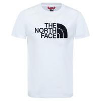 Îmbracaminte Băieți Tricouri mânecă scurtă The North Face EASY TEE Alb