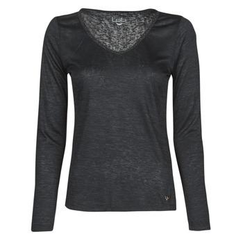 Îmbracaminte Femei Tricouri cu mânecă lungă  Les Petites Bombes ADRIANA Negru