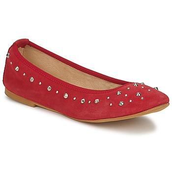 Pantofi Femei Balerin și Balerini cu curea Meline LUSON Roșu