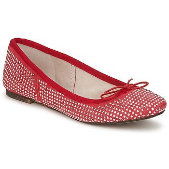 Pantofi Femei Balerin și Balerini cu curea Meline BALDE ROCK Roșu