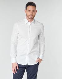 Îmbracaminte Bărbați Cămăsi mânecă lungă G-Star Raw DRESSED SUPER SLIM SHIRT LS White