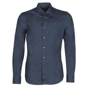 Îmbracaminte Bărbați Cămăsi mânecă lungă G-Star Raw DRESSED SUPER SLIM SHIRT LS Mazarine / Blue