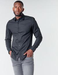 Îmbracaminte Bărbați Cămăsi mânecă lungă G-Star Raw DRESSED SUPER SLIM SHIRT LS Negru