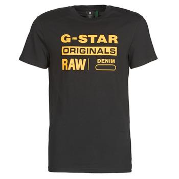 Îmbracaminte Bărbați Tricouri mânecă scurtă G-Star Raw COMPACT JERSEY O Negru