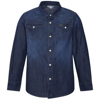 Îmbracaminte Băieți Cămăsi mânecă lungă Pepe jeans JHON Albastru