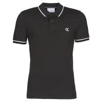 Îmbracaminte Bărbați Tricou Polo mânecă scurtă Calvin Klein Jeans TIPPING SLIM POLO Negru