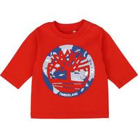 Îmbracaminte Băieți Tricouri cu mânecă lungă  Timberland T95889 Roșu