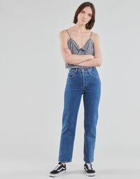 Îmbracaminte Femei Jeans drepti Levi's RIBCAGE STRAIGHT ANKLE Albastru