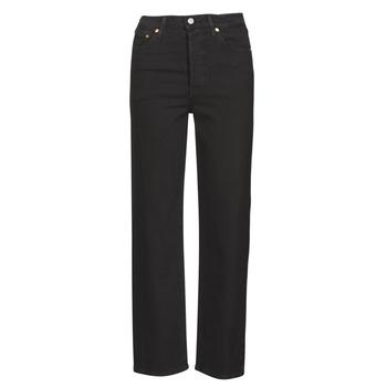 Îmbracaminte Femei Jeans drepti Levi's RIBCAGE STRAIGHT ANKLE Black / Heart