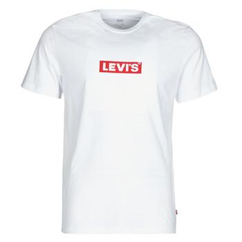 Îmbracaminte Bărbați Tricouri mânecă scurtă Levi's BOXTAB GRAPHIC TEE Alb