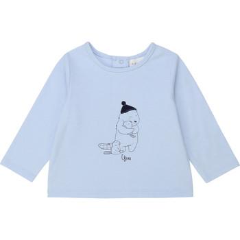 Îmbracaminte Băieți Tricouri cu mânecă lungă  Carrément Beau Y95249 Albastru