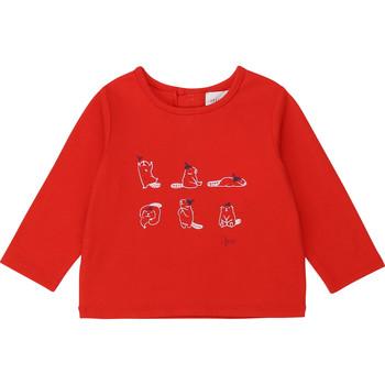 Îmbracaminte Fete Tricouri cu mânecă lungă  Carrément Beau Y95252 Roșu