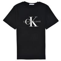 Îmbracaminte Copii Tricouri mânecă scurtă Calvin Klein Jeans MONOGRAM Negru