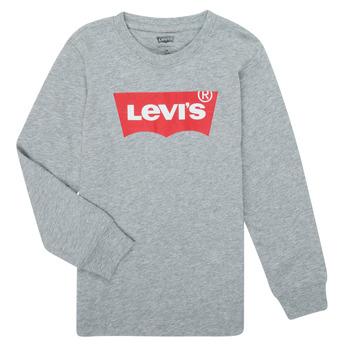 Îmbracaminte Băieți Tricouri cu mânecă lungă  Levi's BATWING TEE LS Gri
