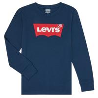 Îmbracaminte Băieți Tricouri cu mânecă lungă  Levi's BATWING TEE LS Albastru